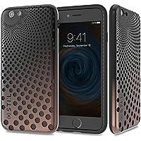 STI:L | Cover custodia ESCLUSIVA Cyclone in Silicone, Policarbonato e Tessuto a rete per iPhone 6 e 6s, NERO & ORO