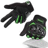 COFIT Guanti da Moto, Touchscreen sulle Dita, Guanti per corse in Motocicletta, per guidare Quad (ATV), per Arrampicata, Escursioni e Altri Sport All'aperto - Verde M