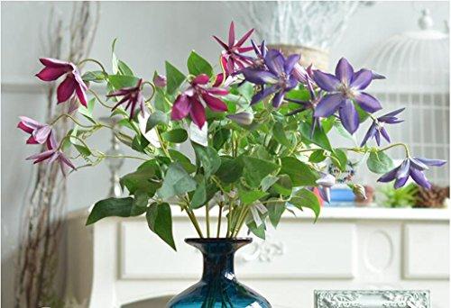 Europäische High-End Home Dekoration Simulation künstliche Blume Klematis Clematis Pfingstrose,Größe: 67CM