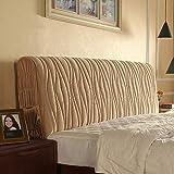Dapang PP Baumwolle Kopfteil Schlafzimmer Staubschutz Schutzhülle Stoff weiche Textur mit DREI Farben sechs Größen zur Auswahl,Brown,150cm