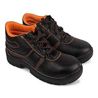 Aktion Safety Synthetic Leather Shoes RA-704 - Size 6, Black