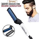 Jeval Quick Hair Styler for Men Electric Beard Straightener Hair Styler Comb For