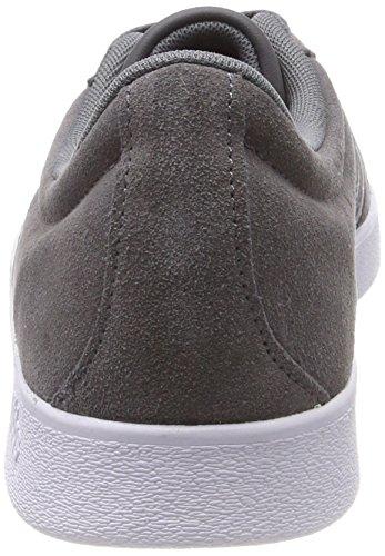 adidas VL Court 2.0, Chaussures de Gymnastique Homme Gris (Grey Five F17/grey Five F17/ftwr White Grey Five F17/grey Five F17/ftwr White)