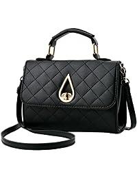 Fanspack Womenâ€s Top Handle Satchel Handbags PU Leather Small Crossbody Shoulder Bag Purse