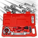 LZDLL Tool Kit Strumento di svasatura per fustellatura a Doppia espansione per Riparazione del Tubo del Freno in Rame