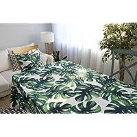 Drizzle Mantel para Mesa de Cocina o Salón Monstera Plantas Verdes Hojas de Palma Rectangular Impermeable Lavable Diseño de Comedor Decoración del Hogar (55*70in/140*180cm)