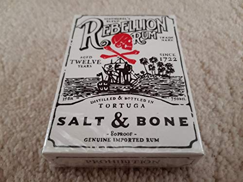Ellusionist Salt and Bone Rare Playing Cards Luxurious Limited Poker Deck - Pirate Treasure Map Rum