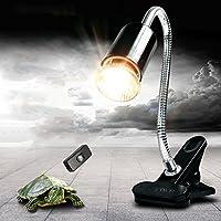 PROKTH Lampada a morsetto di fissaggio per rettili, regolabile habitat illuminazione lampade calore del supporto per rettili, tartaruga, anfibi, uccelli, fish, Mammals