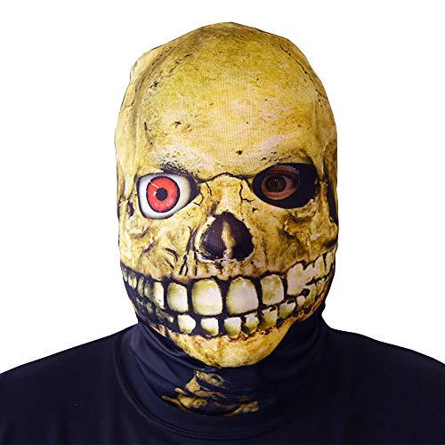 L&S PRINTS FOAM DESIGNS 3D Effekt Evil Red Eyed Skull Face Haut Sensenmann Halloween Horror Maske hergestellt in Yorkshire