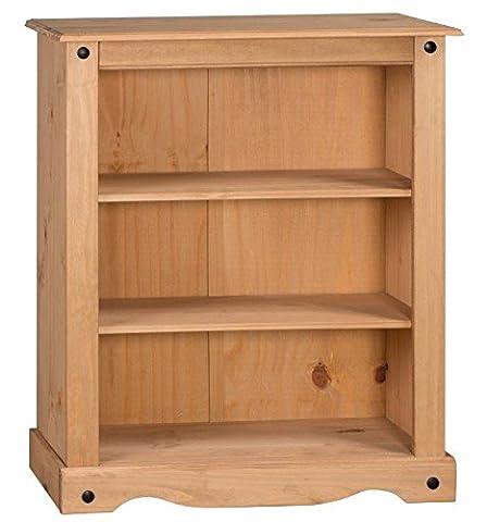 Mercers Furniture Corona kleines Bücherregal, Holz, antique wax, 84 x 29 x 100 cm