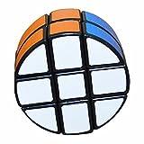 Ronda 2x3x3 Puzzle Cube Coolzon Especial Circular Juego de Puzzle PVC Adhesivo 66mm, Negro