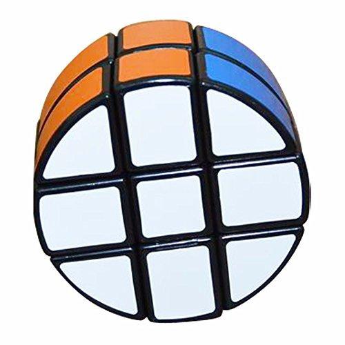 Ronda 2x3x3 Puzzle Cube Coolzon® Especial Circular Juego de Puzzle PVC Adhesivo 66mm, Negro