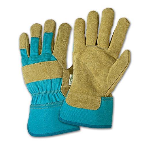 Dirty Work dw23000Damen Leder Palm Handschuhe, S/M, blau, 1
