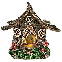 Solar Powered Illuminated Fairy Woodland Cottage / Dwelling Garden Ornament