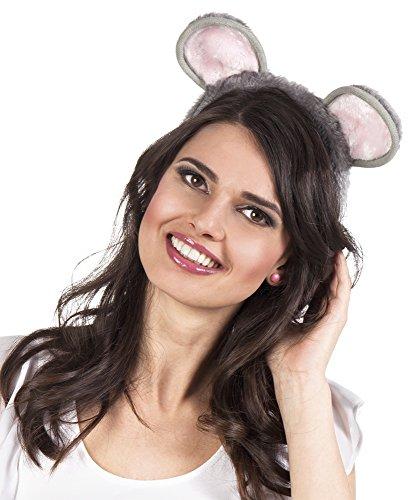 erdbeerclown- Maus Ohren Kostüm Maske Haarreif Mouse, (Hund Nase Kostüm Und Ohren)