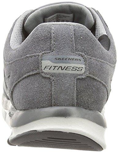 Skechers Liv Smart, Fitness homme Gris - Grey (Charcoal)
