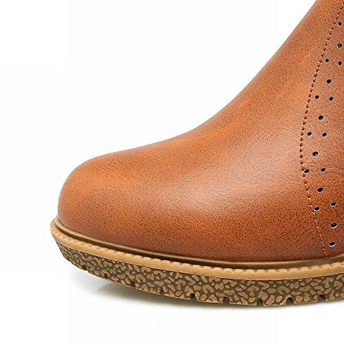 Mee Shoes Damen ungefüttert langschaft chunky heels Stiefel Gelb