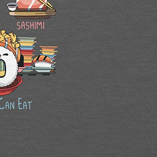 NERDO - Types Of Sushi - Herren T-Shirt Grau