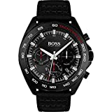 Hugo Boss Mens Chronograph Quartz Watch with Leather Strap 1513662
