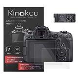 kinokoo Gehard Glas Film voor Canon EOS R5 Crystal Clear Film Canon EOS R5 Screen Protector met Top Screen Protector (2 pack)