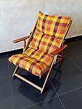 POLTRONA SEDIA SDRAIO HARMONY RELAX (GIALLA/ARANCIONE) in legno pieghevole cuscino imbottito soggiorno cucina giardino salone divano immagine