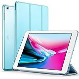 ESR Funda Nuevo iPad 2017 con Auto-Desbloquear y Función de Soporte [Ligera] de Cuero Sintético y Plástico Duro Transparente Esmerilado Cover Cáscara para Apple New iPad 2017 de 9.7 pulgadas -Azul de cielo
