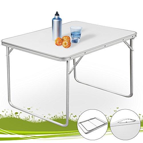 Alu Campingtisch Klapptisch Beistelltisch Falttisch Koffertisch - leicht und faltbar mit praktischem Tragegriff für unterwegs (Kleine Aluminium-tisch)