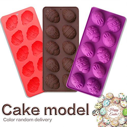 Yunt Ostern Ei & Hasen Kuchenform Silikonform 10-Hohlraum Schokoladeneier Easter Silicone Cake Mold, Farbe wird nach dem Zufallsprinzip versendet