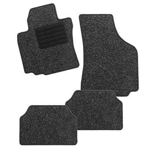 Preisvergleich Produktbild CarFashion BasicRips DL4, Auto Fussmatte mit Einfachrippe in anthrazit, vorne und hinten, ohne Mattenhalter