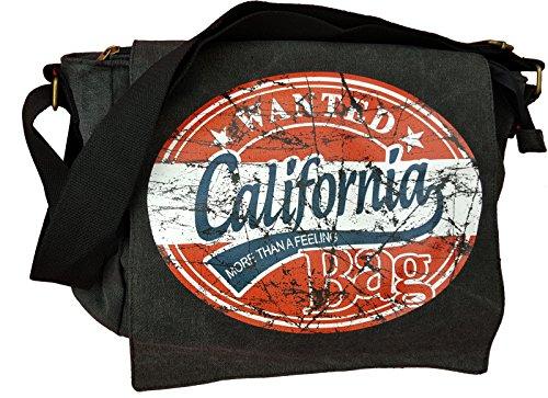 Robin Ruth Wanted USA America Rocknroll Busta della Borsa a tracolla Messenger Bags Wanted California Large