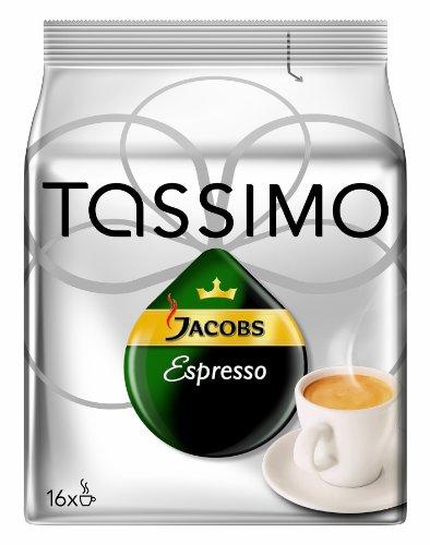 Tassimo Jacobs Krönung Espresso, 3er Pack (3 x 16 Portionen) - Auslaufartikel (Tassimo Caramel Espresso)