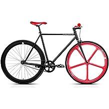 Bicicleta FB FIX4 black & red. Monomarcha fixie / single speed. Talla 53