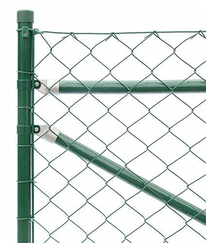Zaun-Nagel Maschendrahtzaun Drahtzaun Gartenzaun Maschendraht Komplettset Standardqualität - 25 m/125 cm hoch