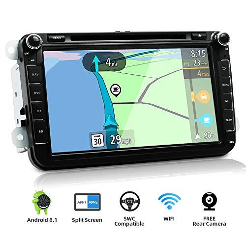 YUNTX Android 8 Autoradio Compatible Golf/Skoda/Seat