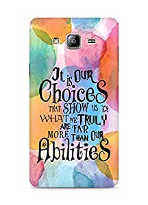 AMEZ our choices show what we are Back Cover For Samsung Galaxy ON5