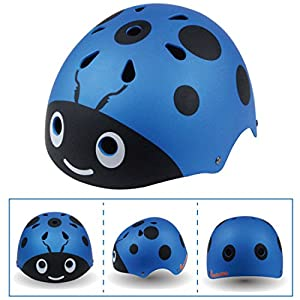 Foxom Kids Helmet and Pads Set for Bmx, Skateboard, Skates Scooters,Joint Protection, Suit for kids 3 - 12 years