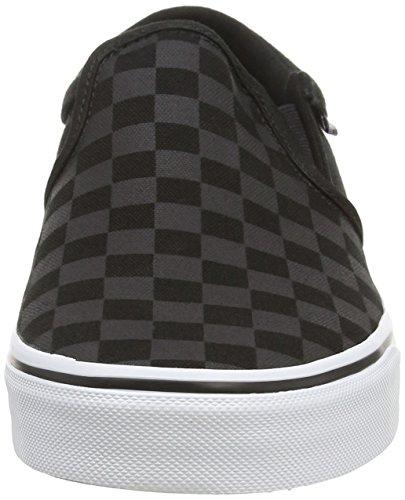 Vans M ASHER, Sneakers basses homme Noir (Checkers/Black/Black)