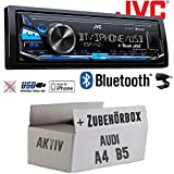 Audi A4 B5 Aktiv - JVC KD-X341BT - Bluetooth | MP3 | USB | Android | iPhone Autoradio - Einbauset