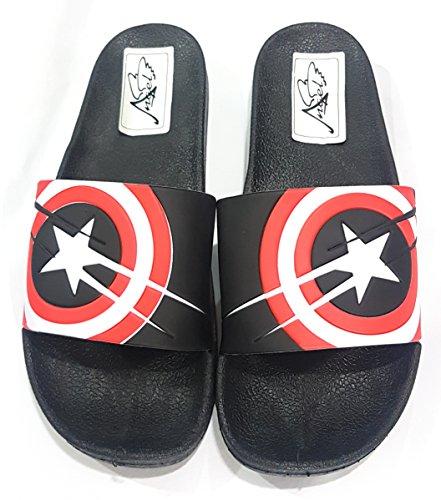 Angel Fashion Captain America Star Slides for Men