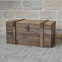Estilo antiguo baúl baúl de madera de almacenaje (61x 32x 28cm