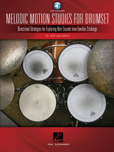 Melodic motion studies for drumset batterie