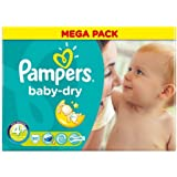 Couches Pampers Baby Dry taille 4 + Mega Lot de 80couches