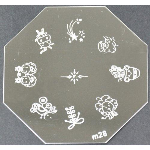 Nail Art emboutissage des tôles - M01 CODE : M28-plaque