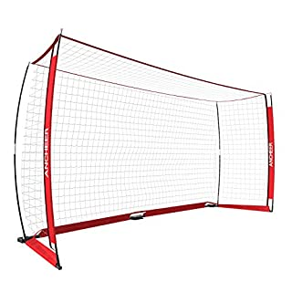 Ancheer Portable Football Goal Nets & Football Nets for Kids Backyard, 12 x 6 ft & 6 x 4 ft Bow Net Soccer Goal for Practice for Kids & Adults