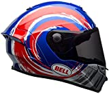 BELL Star MIPS Brad legante Replica Casco Moto, Blue Red Silver, M