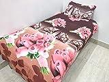 SinghsVillas Decor Singhs Mart Kids Cartoon 160 TC Polycotton Single Bedsheet with Pillow 1 Cover,Standard,Multi-coloured