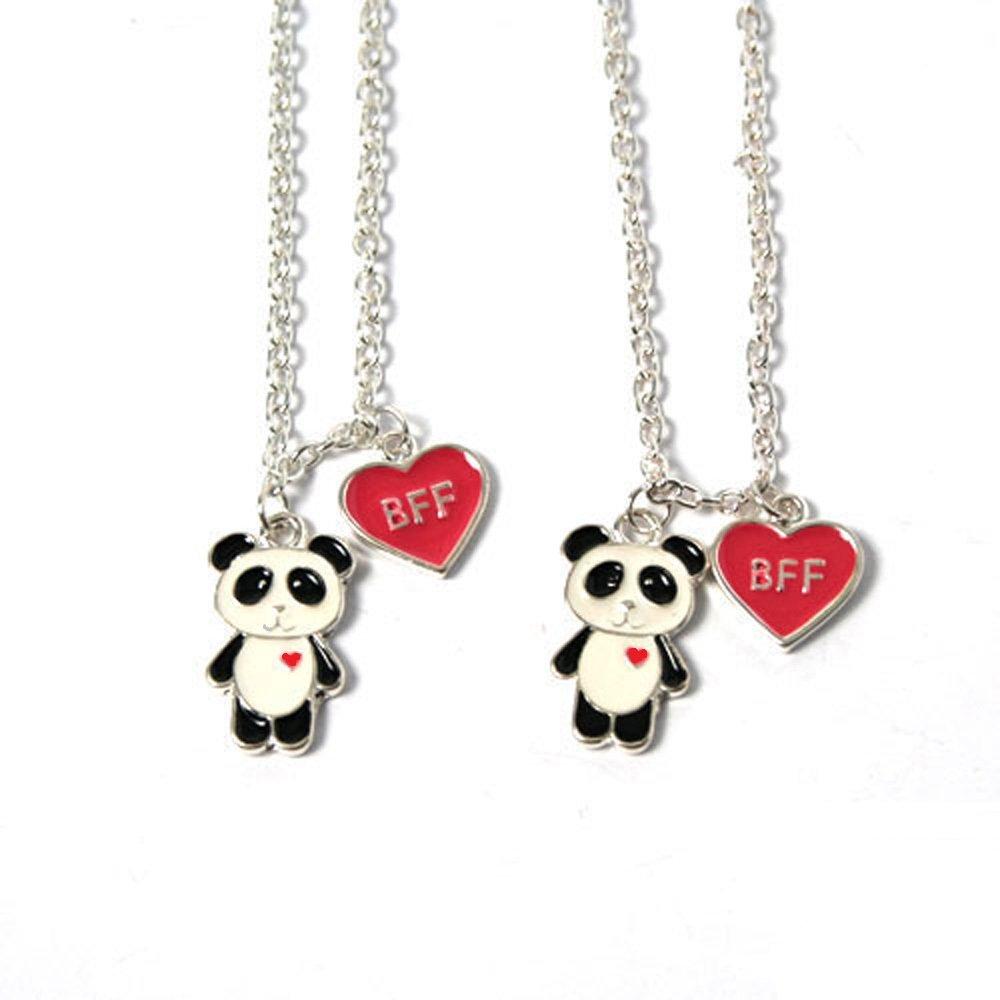 Freundschaftsketten mit Panda-Motiv und BFF-Herz
