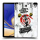 Head Case Designs Offizielle 5 Seconds of Summer Weiss She's Kinda Hot Ruckseite Hülle für Samsung Galaxy Tab S4 10.5 (2018)