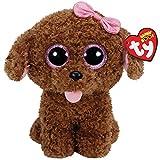 Ty Beanie Boo MADDIE the POODLE DOG w BO...