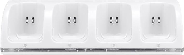 4 in 1 Wii Ladestation, Prous LU07 Ladestation und 4 Akkus für Nintendo Wii Fernbedienung - Weiß